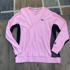 Victoria's Secret pink mesh crewneck sweatshirt
